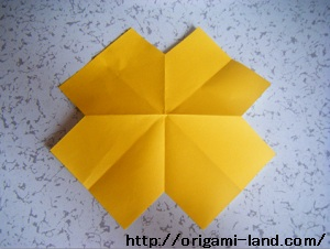 C 折り紙 〇、×、♯、お花模様の折り方_html_7b0890eb