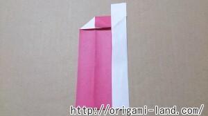 C 折り紙 しおり(パンダ・うさぎ・ハート)の折り方_html_c14934e