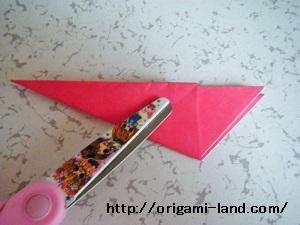 C 折り紙 〇、×、♯、お花模様の折り方_html_1b3931e