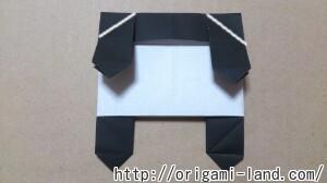 C 折り紙 しおり(パンダ・うさぎ・ハート)の折り方_html_40411c96