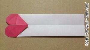 C 折り紙 しおり(パンダ・うさぎ・ハート)の折り方_html_2bfd9db6