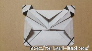 C 折り紙 しおり(パンダ・うさぎ・ハート)の折り方_html_m3fcf9741