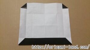 C 折り紙 しおり(パンダ・うさぎ・ハート)の折り方_html_6dada61f