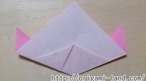 C 折り紙 くだもの(りんご、バナナ。もも)の折り方_html_1bab7a08