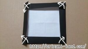 C 折り紙 しおり(パンダ・うさぎ・ハート)の折り方_html_489877bf