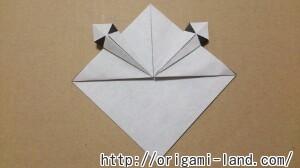 C 折り紙 しおり(パンダ・うさぎ・ハート)の折り方_html_278dee23