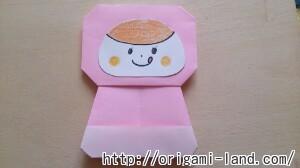 C 折り紙 人形(マトリョーシカ、こけし、福助)の折り方_html_m478e90be