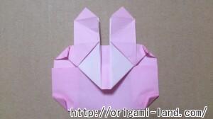 C 折り紙 しおり(パンダ・うさぎ・ハート)の折り方_html_171573bf