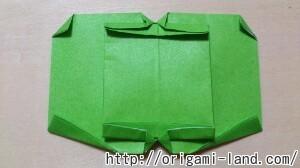 C 折り紙 くだもの(りんご、バナナ。もも)の折り方_html_m2b8a463d