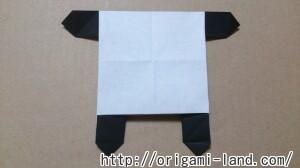 C 折り紙 しおり(パンダ・うさぎ・ハート)の折り方_html_e616d4b