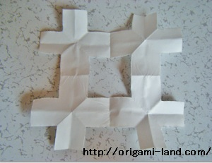 C 折り紙 〇、×、♯、お花模様の折り方_html_m743a6ca5