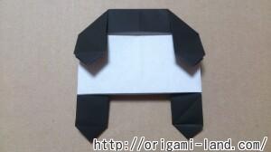C 折り紙 しおり(パンダ・うさぎ・ハート)の折り方_html_78df1c28