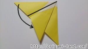 C 折り紙 くだもの(りんご、バナナ。もも)の折り方_html_4020c896