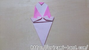 C 折り紙 夏のデザート(アイスクリーム&かき氷)の折り方_html_mcef6827