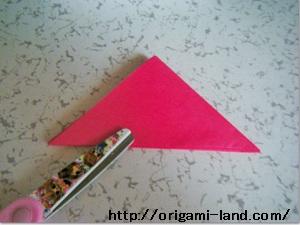 C 折り紙 〇、×、♯、お花模様の折り方_html_18280fc5