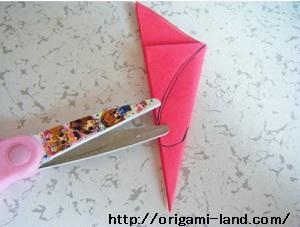 C 折り紙 〇、×、♯、お花模様の折り方_html_7d43931b