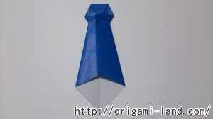 C 折り紙 ネクタイの折り方_html_5edf5488