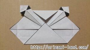 C 折り紙 しおり(パンダ・うさぎ・ハート)の折り方_html_2ac253c3