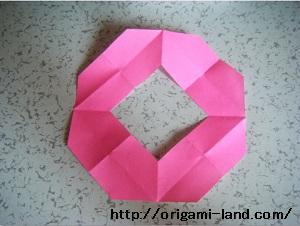 C 折り紙 〇、×、♯、お花模様の折り方_html_27566547
