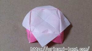 C 折り紙 花(バラ・ダリア・すいせん)の折り方_html_640f8534