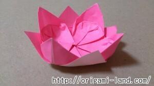 C 折り紙 花(バラ・ダリア・すいせん)の折り方_html_26780998