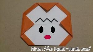 C 折り紙 さるの折り方_html_550b08a5