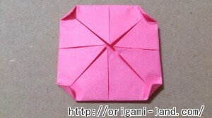 C 折り紙 花(バラ・ダリア・すいせん)の折り方_html_157441c9