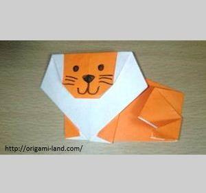 折り紙 ライオン 簡単