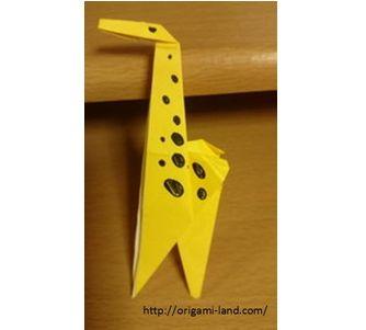 簡単 折り紙 折り紙 キリン : origami-land.com