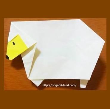 ハート 折り紙:鳥 折り紙 折り方-origami-land.com